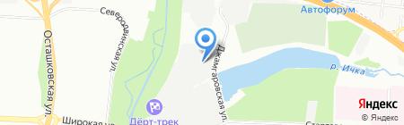 Субару Медведково на карте Москвы