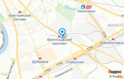Местоположение на карте пункта техосмотра по адресу г Москва, пр-кт Волгоградский, д 32 к 8
