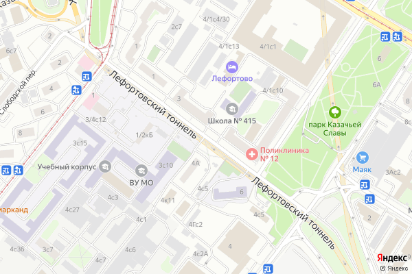 Ремонт телевизоров Танковый проезд на яндекс карте