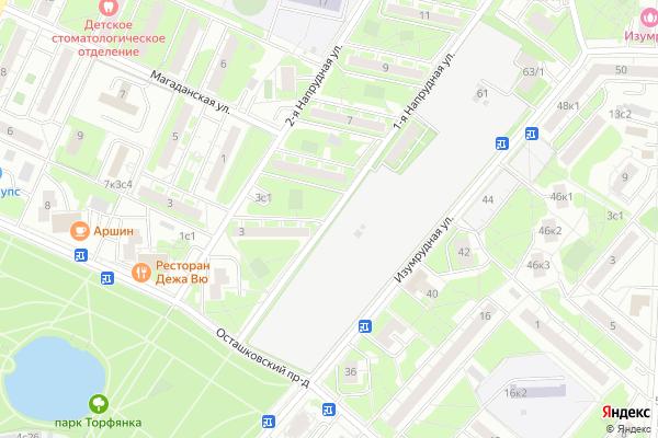 Ремонт телевизоров Улица 1 я Напрудная на яндекс карте