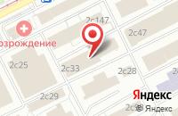 Схема проезда до компании Инстрой в Москве