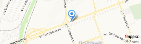 Фифочка на карте Донецка