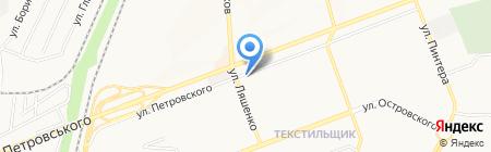 Обувной дискаунтер на карте Донецка