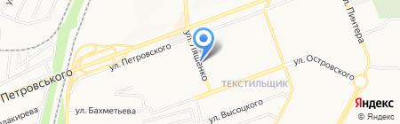 Акация на карте Донецка