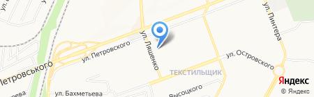 Пластика на карте Донецка