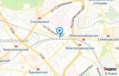 Местоположение на карте пункта техосмотра по адресу г Москва, ул Матросская Тишина, д 1А стр 8
