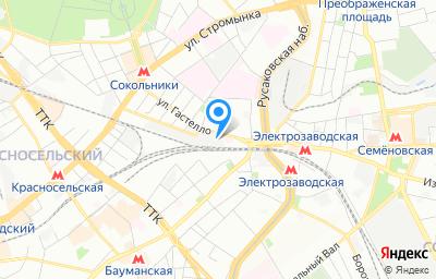 Местоположение на карте пункта техосмотра по адресу г Москва, ул Матросская Тишина, д 1А стр 2