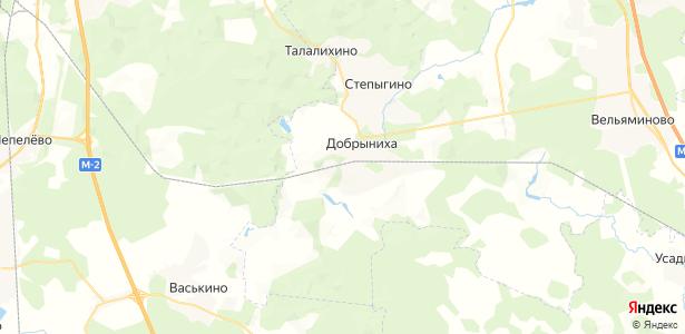 Добрыниха на карте