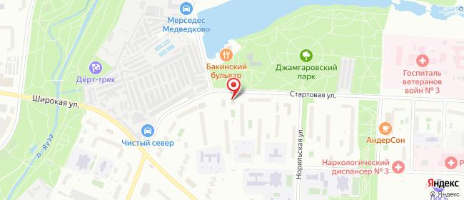 Карта расположения пункта доставки Москва Стартовая в городе Москва