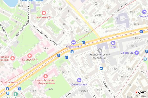Ремонт телевизоров Улица Стромынка на яндекс карте