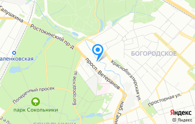 Местоположение на карте пункта техосмотра по адресу г Москва, ул Краснобогатырская, д 2 стр 52