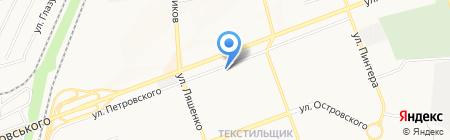 Арка на карте Донецка