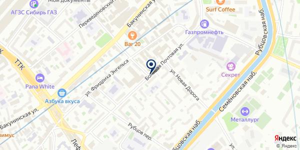 ТФ БАК на карте Москве