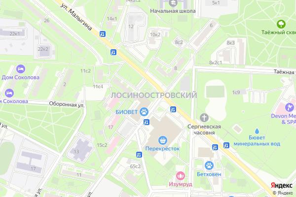 Ремонт телевизоров Район Лосиноостровский на яндекс карте
