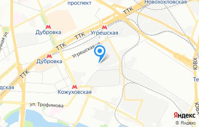 Местоположение на карте пункта техосмотра по адресу г Москва, проезд 3-й Угрешский, д 8А стр 16