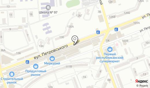 Клеопатра. Схема проезда в Донецке
