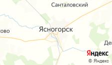 Отели города Ясногорск на карте
