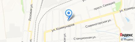 Донкомплект на карте Донецка