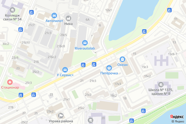 Ремонт телевизоров Улица Коломенская на яндекс карте