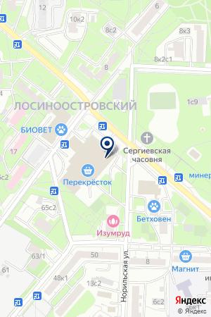Салон связи на карте Москвы