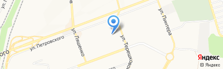 Леди Шарм на карте Донецка