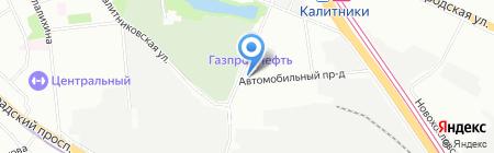 Композит на карте Москвы