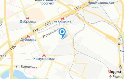 Местоположение на карте пункта техосмотра по адресу г Москва, проезд 3-й Угрешский, д 8А стр 2