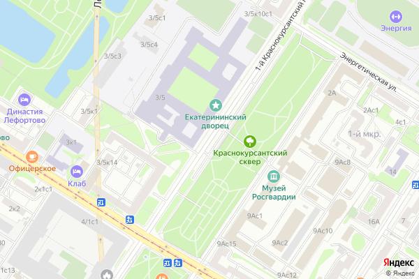 Ремонт телевизоров 1 й Краснокурсантский проезд на яндекс карте