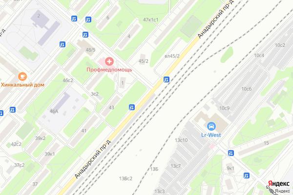 Ремонт телевизоров Анадырский проезд на яндекс карте
