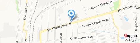 Ягодка на карте Донецка