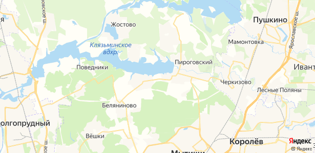 Подрезово на карте
