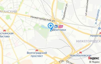Местоположение на карте пункта техосмотра по адресу г Москва, ул Средняя Калитниковская, д 28 стр 3