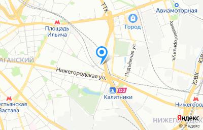 Местоположение на карте пункта техосмотра по адресу г Москва, ул Рабочая, д 84