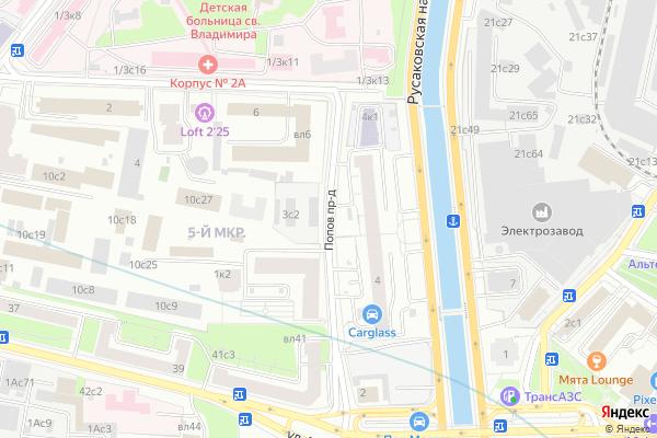 Ремонт телевизоров Попов проезд на яндекс карте
