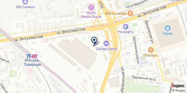 Мобильная шиномонтажная мастерская на карте Москве