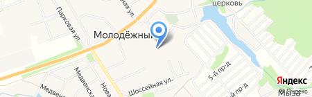 Медвенская средняя общеобразовательная школа на карте Глухих Полян