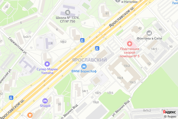 Ремонт телевизоров Район Ярославский на яндекс карте