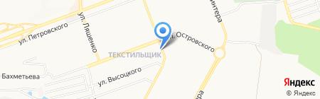 Киоск по продаже хлебобулочной продукции на карте Донецка