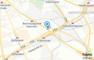 Местоположение на карте пункта техосмотра по адресу г Москва, пр-кт Волгоградский, д 32 к 7