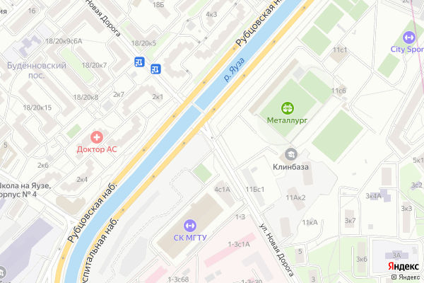 Ремонт телевизоров Улица Новая Дорога на яндекс карте