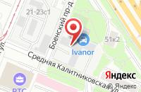 Схема проезда до компании ТехСтройКонтракт в Москве
