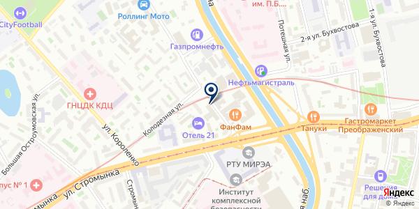 Евро-конвейер на карте Москве