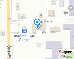 Схема местоположения почтового отделения 301264