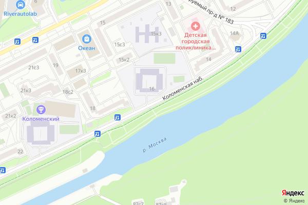 Ремонт телевизоров Коломенская набережная на яндекс карте