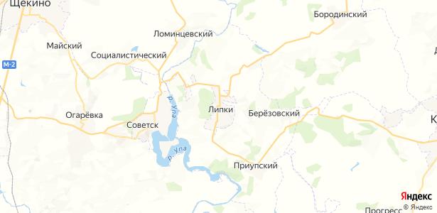 Липки на карте