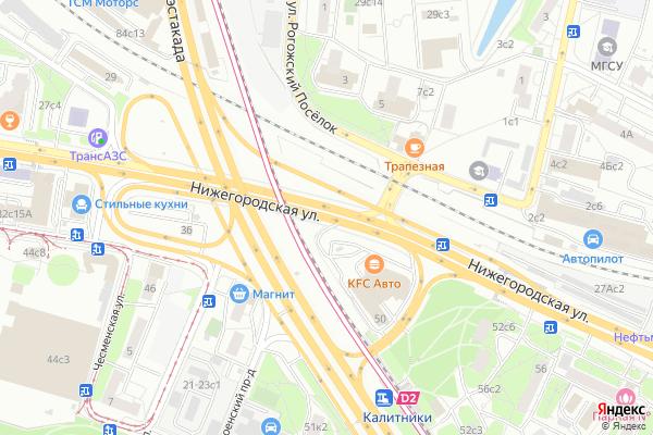 Ремонт телевизоров Улица Нижегородская на яндекс карте