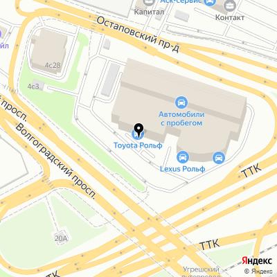 Рольф Toyota Волгоградский на карте Москвы