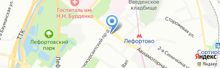 Ладомед на карте Москвы