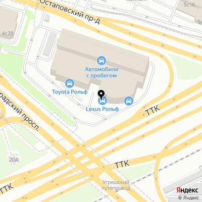 Рольф Lexus Волгоградский на карте Москвы