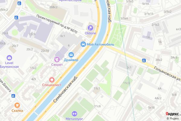 Ремонт телевизоров Семеновская набережная на яндекс карте